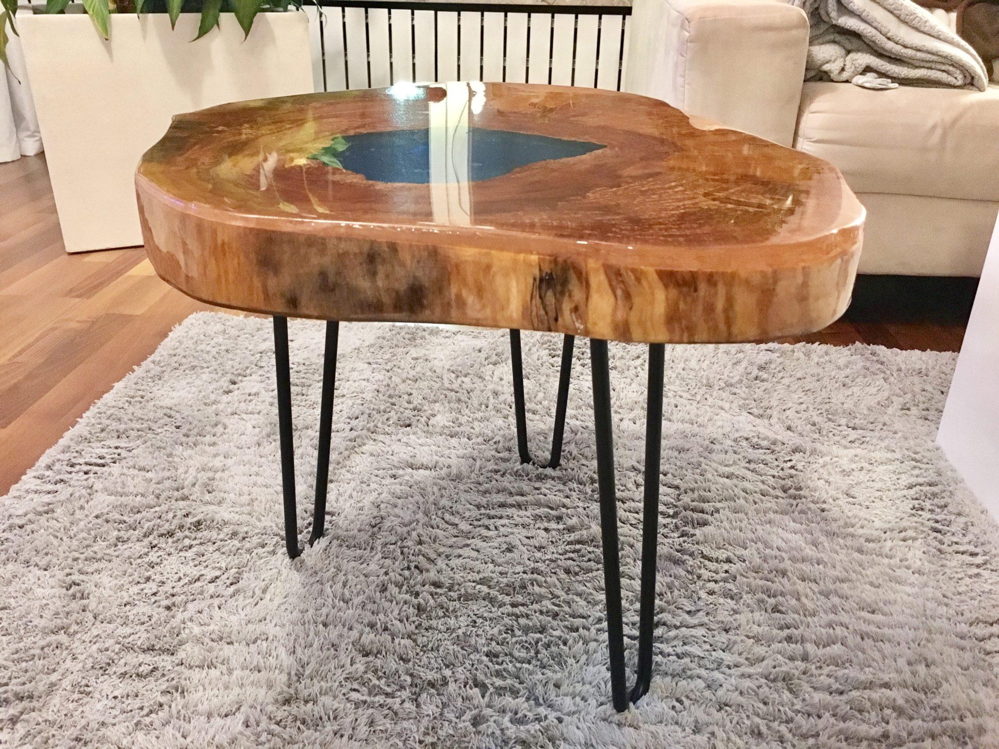 Epoxy River Table Resin - Couchtisch Lake Spirit - resinia®